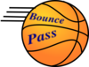 Basketball With Lines At End Clip Art
