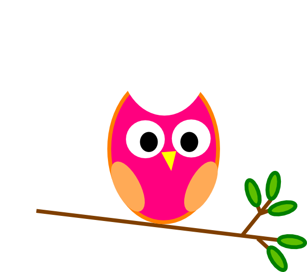 Pink Owl Clip Art at Clker.com - vector clip art online, royalty free ...