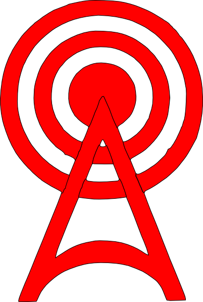 Red Radio Tower Icon Clip Art At Clker Com Vector Clip