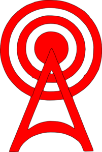 Red Radio Tower Icon Clip Art