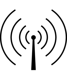 Radio Tower Circluar Clip Art