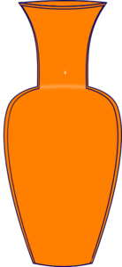 Orange Vase Clip Art