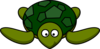 Cute Green Turtle Clip Art