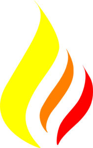 Flame Yelow-red Clip Art
