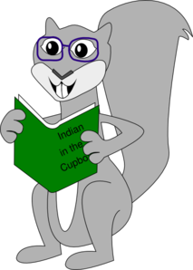 Squirrel With Book Clip Art