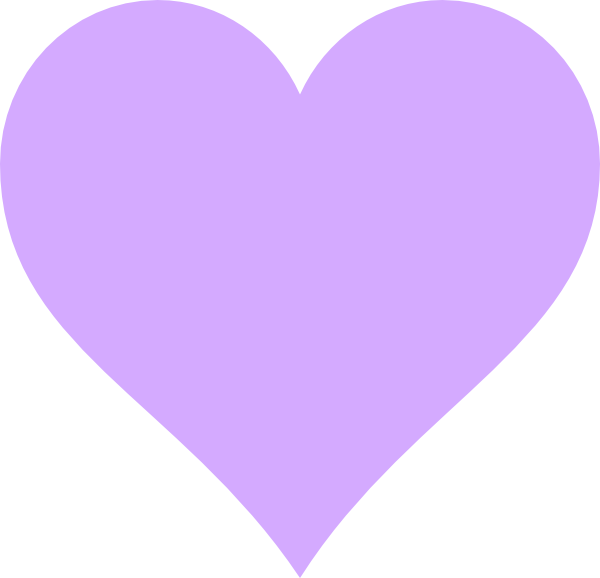 light purple heart clip art at clker com vector clip art online rh clker com small purple heart clipart purple heart medal clipart