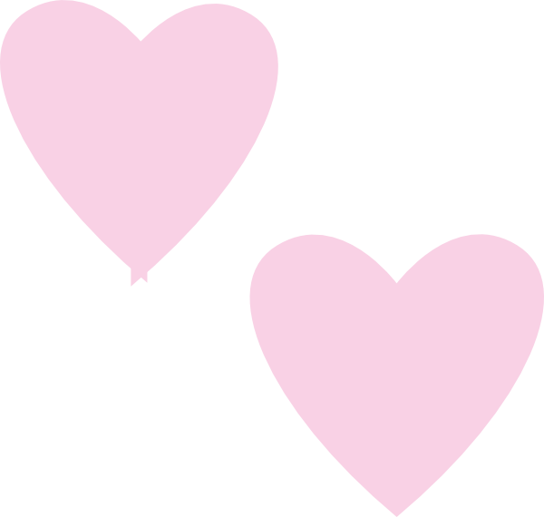 Light Pink Double Hearts Clip Art at Clker.com - vector ...
