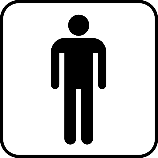 Male Sign Bathroom Bw Boarder Clip Art At