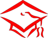 Red Graduation Cap Clip Art
