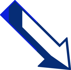 Blue Arrow Right Down Clip Art