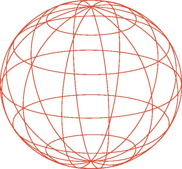 Globe Outline clip art - vector clip art online, royalty free & public