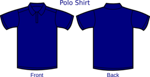 Dark Blue Polo Shirt 2 Clip Art