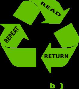 Read Return Repeat Clip Art at Clker.com - vector clip art online ...