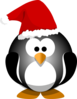 Penguin Wearing Santa Hat Clip Art
