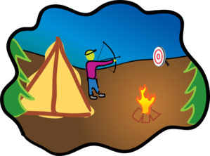 Happy Camping Hunting Clip Art