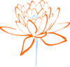 Orange Blue Lotus Clip Art