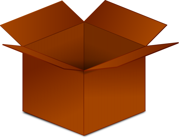 Open Cardboard Box Clip Art at Clker.com - vector clip art ...