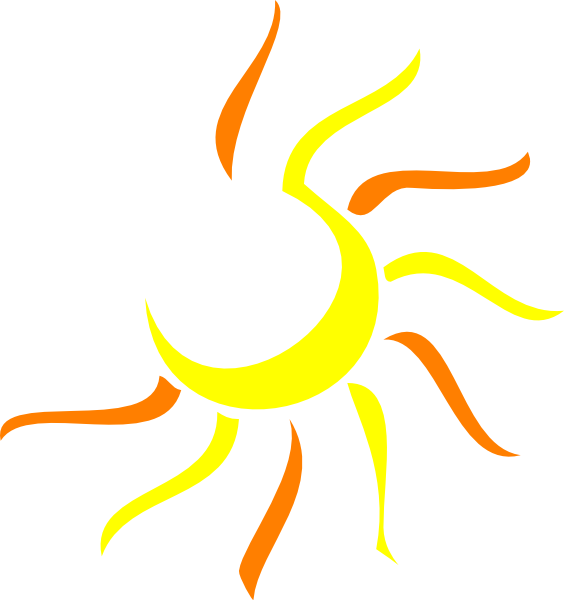 Line Art Vector Design Png : Sun clip art at clker vector online