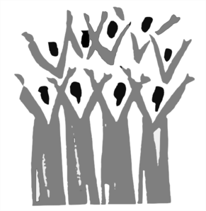 Choir In Grey Clip Art