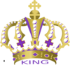 Purple King Crown Clip Art