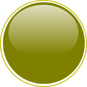Glossy Olive Green Button Clip Art