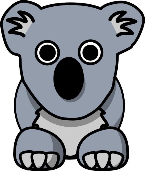 koala clip art at clker com vector clip art online  royalty free   public domain cartoon rhino clip art rhino clipart face