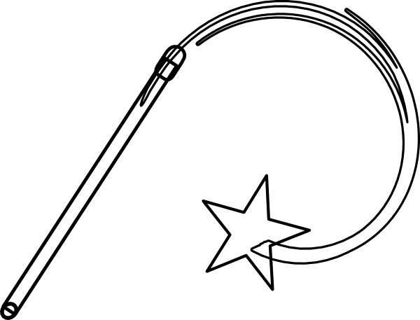 Wand Black And White Clip Art at Clker.com - vector clip ...