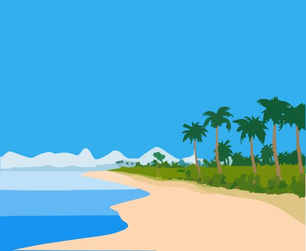 Beach Landscape Clip Art at Clker.com - vector clip art online ...