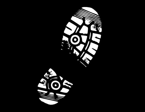 Running shoe print clipart