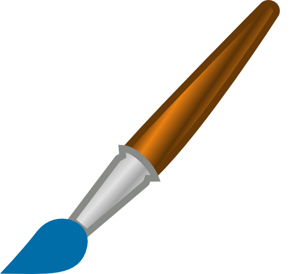 Paint Brush Clip Art at Clker.com - 34.9KB