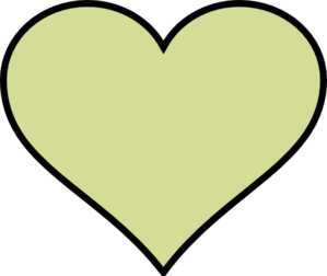 Green Heart Different Colour Clip Art