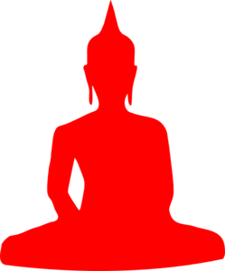 Orange Buddha Clip Art