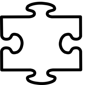 White All Puzzle Clip Art