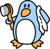 Bathing Penguin Clip Art