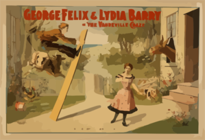 George Felix & Lydia Barry In  The Vaudeville Craze  Clip Art
