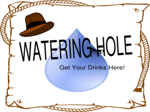Watering Hole Baby Clip Art