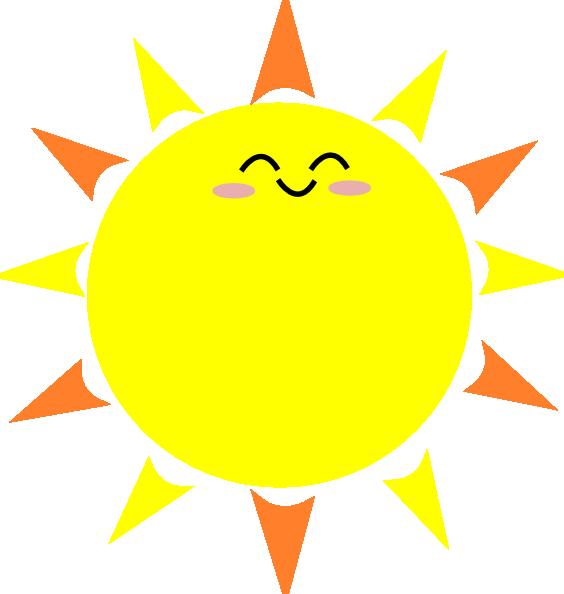 Happy Sun Clip Art at Clker.com - vector clip art online ...