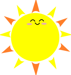 Happy Sun Clip Art