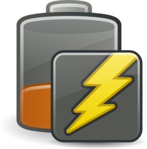 Battery Caution Charging Clip Art