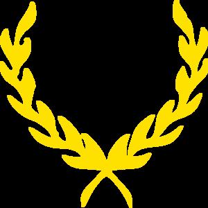 Greek Vines Golden Yellow Clip Art
