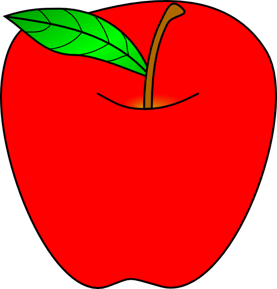 free smiling apple clipart - photo #47