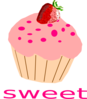 Stawberry Cupcake Clip Art