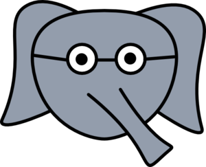 Elephant Face Glasses Clip Art