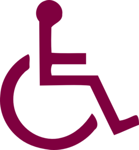 Dark Purple Handicapped Sign Clip Art