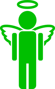 Green Angel Full Clip Art