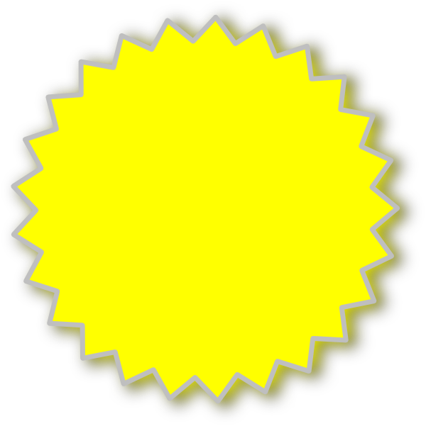 yellow starburst clipart - photo #1