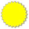 Starburst Outline Yellow Clip Art