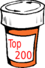 Pharmacy Bottle Top 200 Clip Art