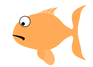Orange Sad Fish Clip Art