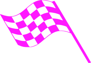 Pink Flags Clip Art